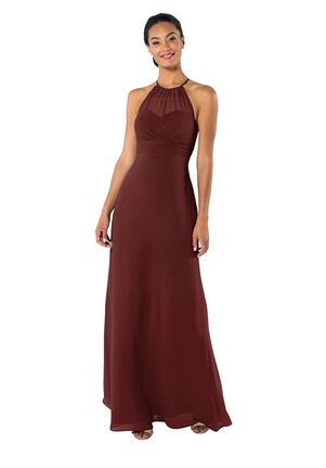 Brideside Brideside Carrie in Pinot Illusion Bridesmaid Dress