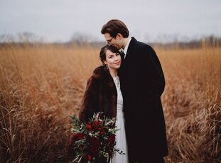 Cori Stuhlmiller (24 and a graphic designer) and Max Lamme (24 and an engineer) wed in a traditional ceremony at the bride's family church, followed b