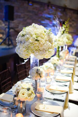 Dome-Shape Ivory Centerpiece