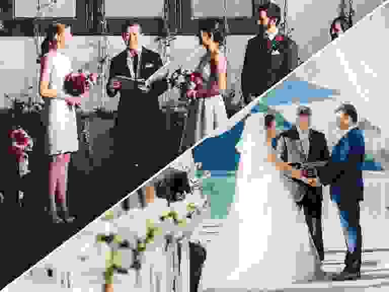 Two wedding ceremonies