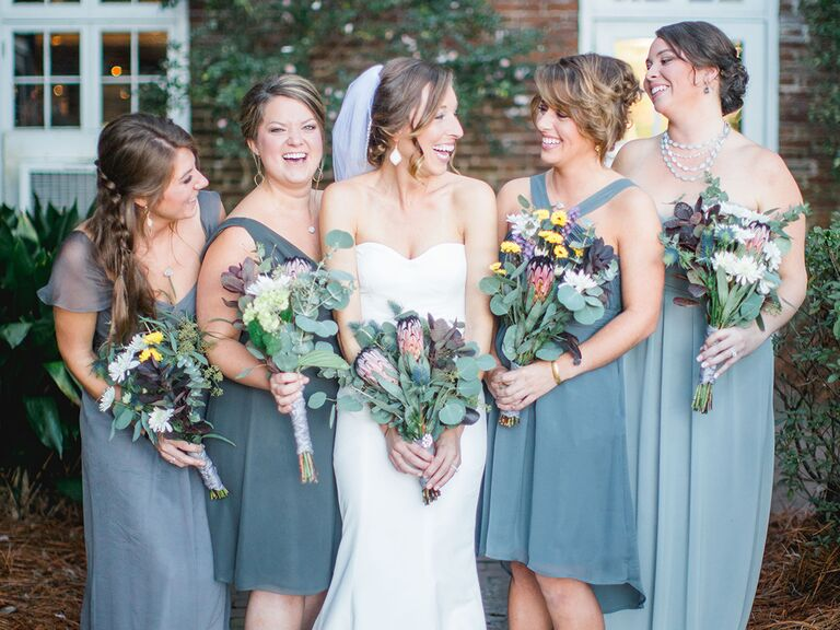 865848caf29 How to Match Bridesmaid Dresses to Your Wedding Gown