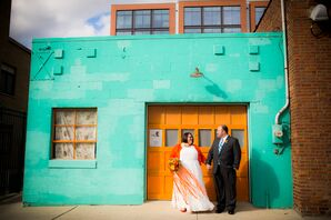 Turquoise and Orange Building in Short North