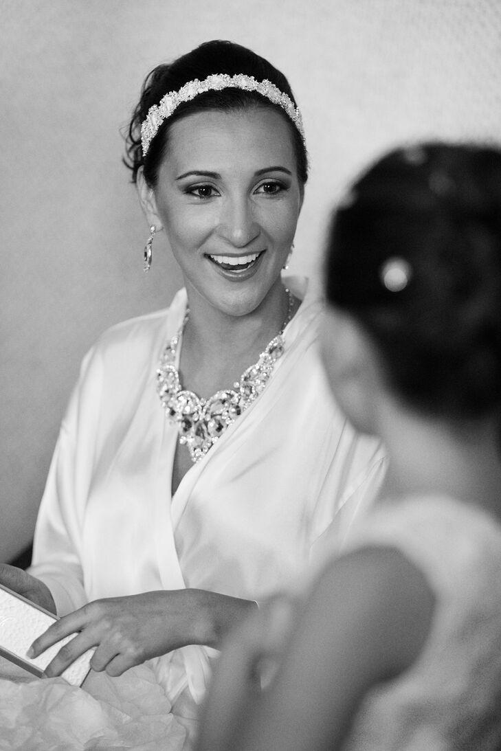 White Satin Bridal Robe