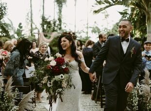 PatriciaBaro and Santiago Cantillo took a hands-on approach to personalizing their intimate, 60-guest outdoor wedding at a historical garden in the F