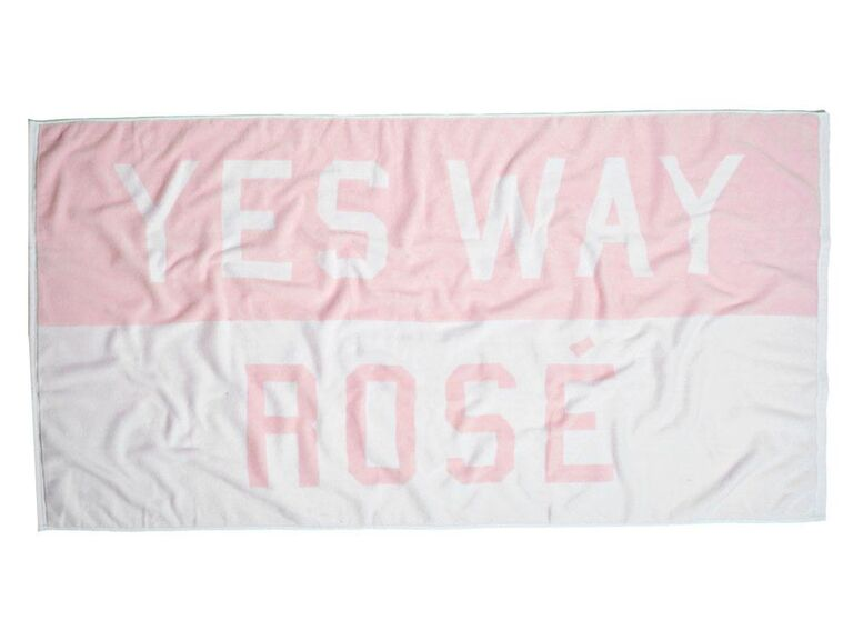 Yes Way Rosé beach towel