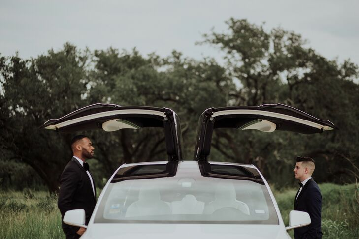 Modern Couple with Sports Car Transportation