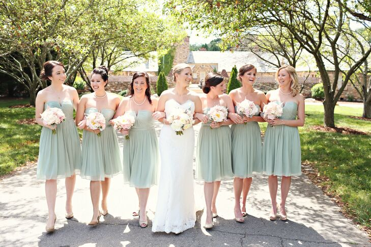 special promotion elegant shoes enjoy free shipping Strapless Sage Green Bridesmaid Dresses