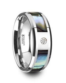 Mens Tungsten Wedding Bands W4276-MOPI Tungsten Wedding Ring