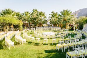 Circular Ceremony Setup with Chiavari Chairs