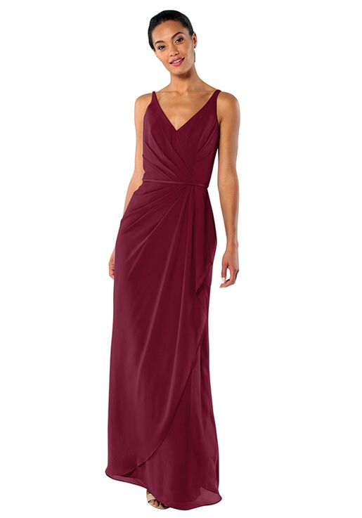 ddbc60ee439f Brideside Brideside Dionne in Berry Bridesmaid Dress - The Knot