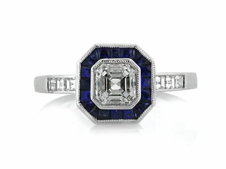 Mark Broumand Vintage Inspired Engagement Ring