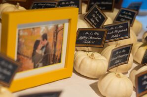 Small Yellow Gourds Serve as Place Card Holders Yell