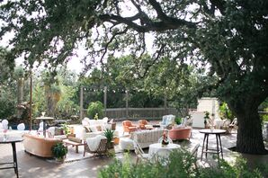 Lounge Area at Eclectic Wedding in Driftwood, Texas
