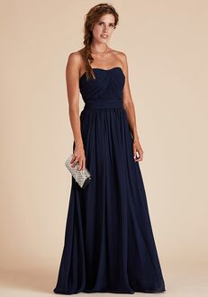 Birdy Grey Grace Convertible Dress in Navy Strapless Bridesmaid Dress