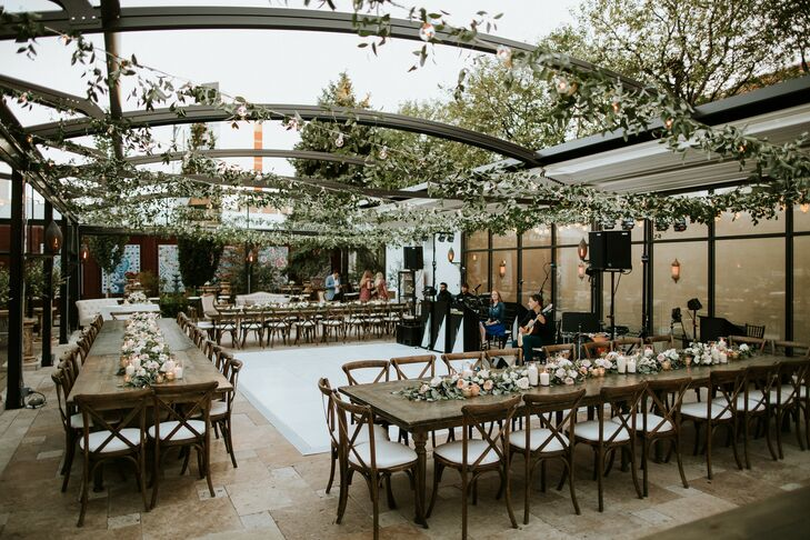Rustic Outdoor Reception at Galleria Marchetti in Chicago