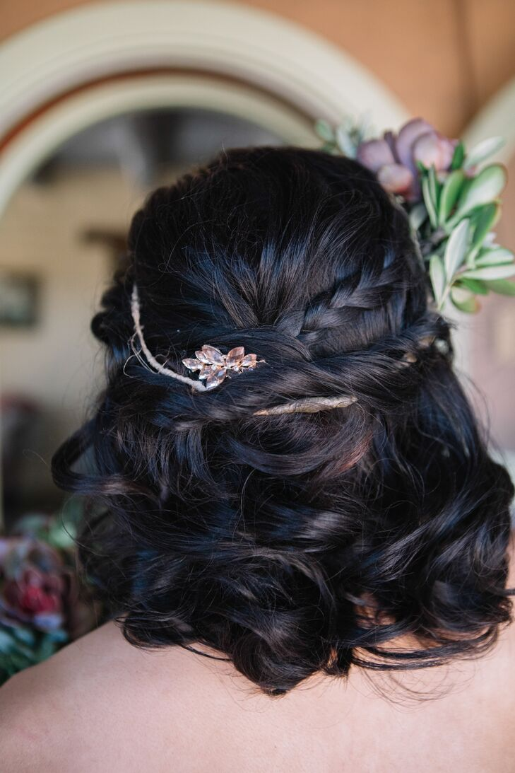 Romantic Half-Up Hairstyle with Clip