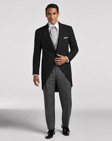 Men's Wearhouse Joseph & Feiss Charcoal Gray Cutaway Lapel Black Tuxedo