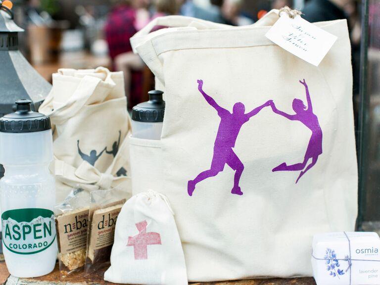 Colorado gift bag, Aspen waterbottle, granola bars