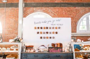 Custom Dessert Bar With Doughnuts