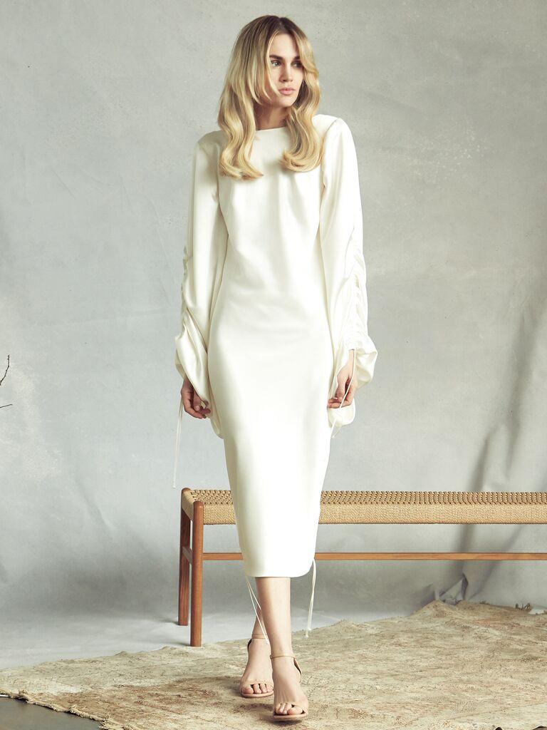 Savannah Miller Spring 2020 Bridal Collection long-sleeve midi wedding dress