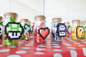 Super Mario Perler Power-Up Favors