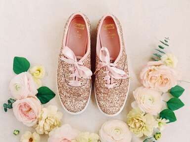 Sparkly wedding sneakers