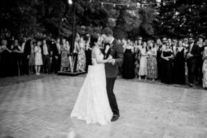Traditional First Dance at Backyard Wedding