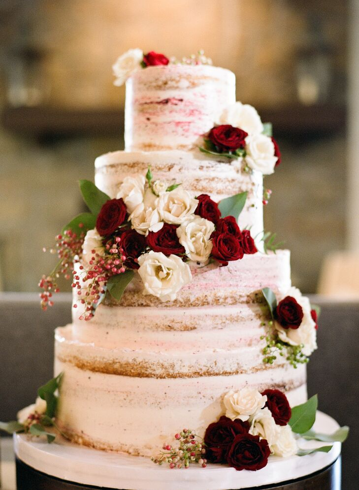 Wine-Flavored Naked Wedding Cake-3150