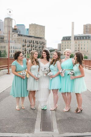 Mint Green Mod Cloth Bridesmaid Dresses