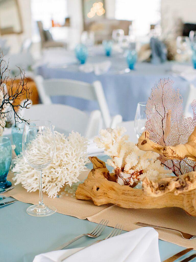 Non-floral centerpieces for summer wedding