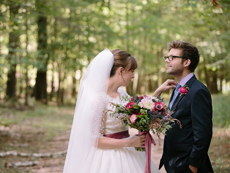 Minnesota wedding in the woods