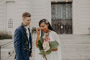 Emotional Wedding at the Griffith Observatory in Los Angeles, California
