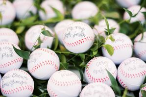 Autographed Baseball Escort Cards