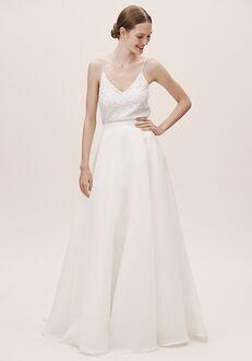 BHLDN Jenny Yoo Peri Organza Skirt A-Line Wedding Dress
