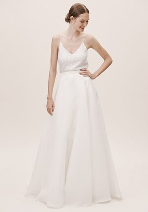 BHLDN Jenny Yoo Peri Organza Skirt A-Line Wedding Dress