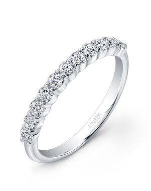 Uneek Fine Jewelry UWB012 White Gold Wedding Ring