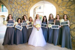 Bridesmaids With Chalkboard Signs