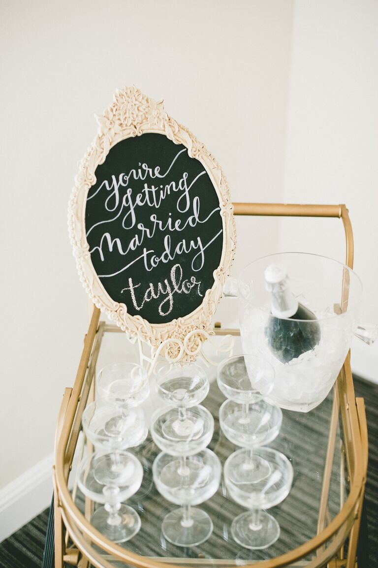 Champagne Cart in Bridal Suite