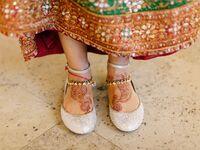 Rhinestone wedding ballet flats