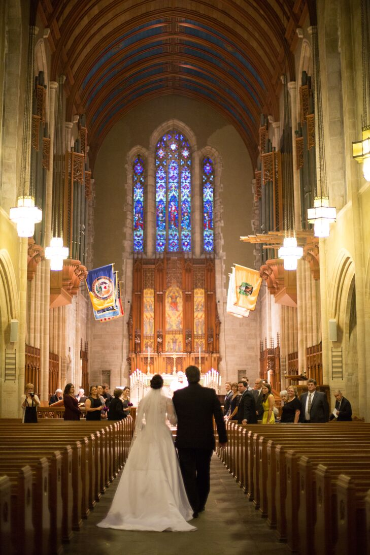 Olivia and Andrew were wed in secrecy at the Muhlenberg College Chapel with only their immediate family in attendance.