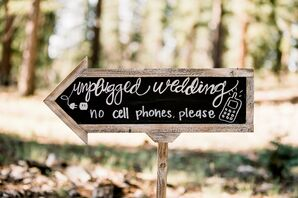 Rustic Arrow Unplugged Ceremony Sign