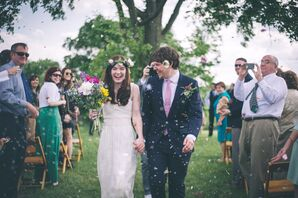 Cassie and Chris's Dried Flower Recessional