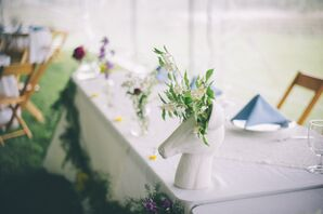 Whimsical Goat Head Centerpieces