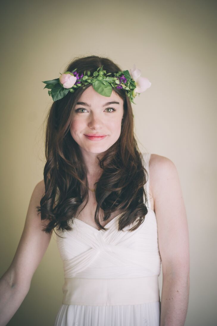 Whimsical Peony Bridal Flower Crown
