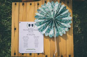Whimsical Paper Fans and Silhouette Ceremony Programs