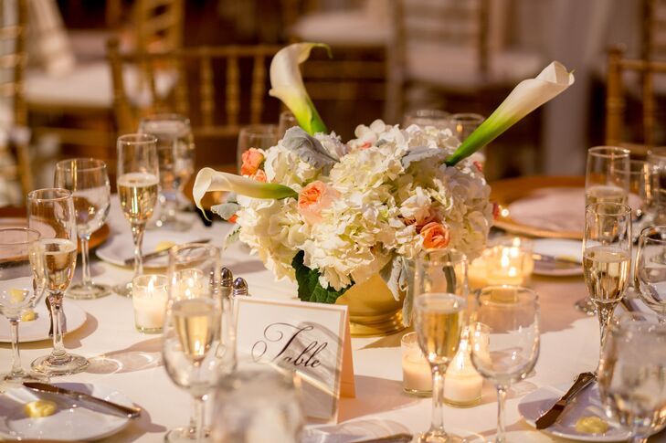 Hydrangea and Calla Lily Centerpiece