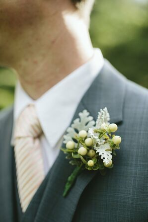 Green Berry Boutonniere