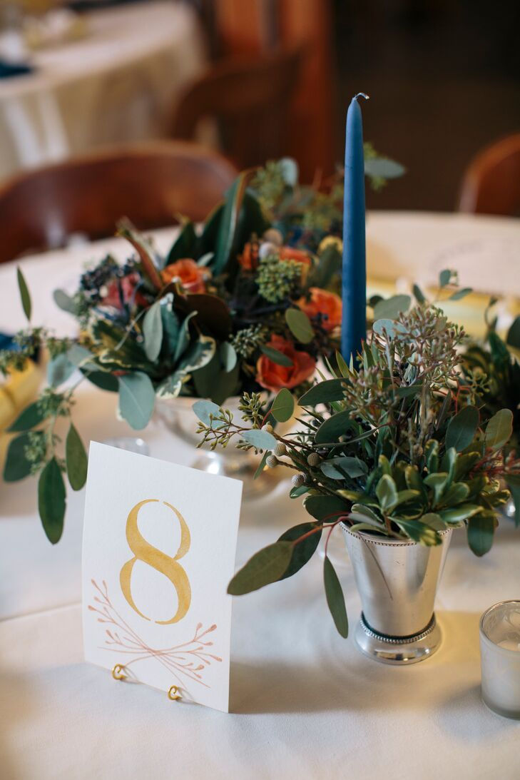 Gold Watercolor Table Numbers