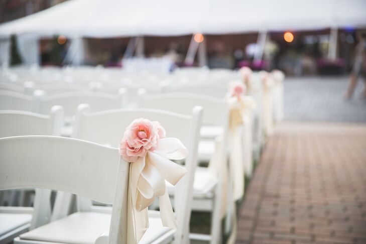 Pink Rose Aisle Markers