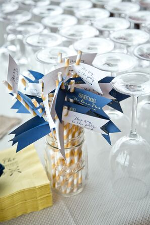 Striped Straws with Playful Flags